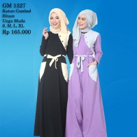 Gamis Simple Casual Dress Remaja Baju Muslim Wanita Rahnem Ori GM 1327