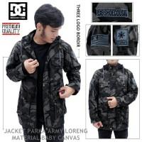 Jaket Army DC Parka - Motif Loreng Abu