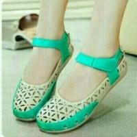 Jual sandal sepatu wanita sol karet replika kickers flat santai formal so2 Murah