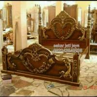 Dipan cinta ranjang kayu tempat tidur jati ukiran jepara