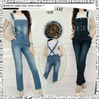 Jual celana kodok Overall jeans (AY-15 Murah