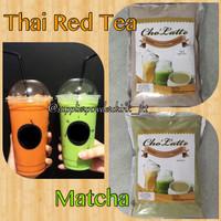 THAI RED TEA & MATCHA POWDER