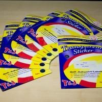 Label Undangan Transparan 103 Tom & Jerry / T&J Transparant Sticker