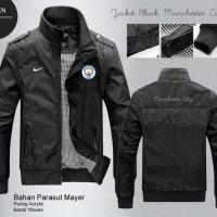 Jual Jaket Black Manchester City / Jaket Bola Distro Pria Murah Para