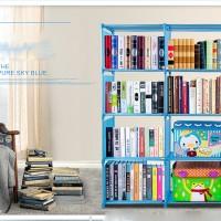 Rak Buku lemari pajang cabinet baju pakaian etalase trofi piala murah