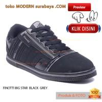 FINOTTI BIG STAR  BLACK GREY no 41 sepatu sekolah casual sneacker pria