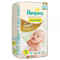 Pampers Premium Care Tape S 48 (NB)