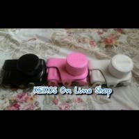 Pu leather case / tas / casing camera samsung nx mini lensa 9-27mm