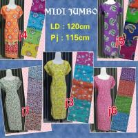 Jual Dress/daster midi jumbo murah kualitas premium Murah