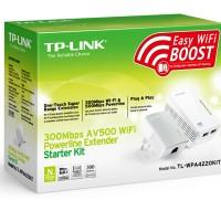Penguat Sinyal Wifi Expander TP-LINK TL-WPA4220KIT Powerline Extender