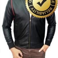 Male Semi Leather Jacket Oscar Hitam  JAK 1958 LarisJaya