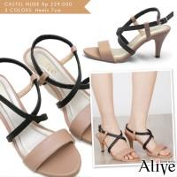 Alivelovearts Castel Nude Heels Fashion Sepatu Wanita Termurah