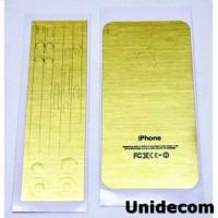 Body Wrap Skin Kit Carbon Fiber Sticker for iPhone 4/4s - Golden