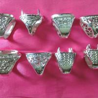 Cincin Ring Cangkang Titanium Perak Per 10 Pcs