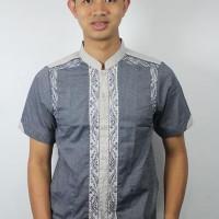 Jual Baju Koko Pria Model Slim Fit Kode AD 99 Biru Baru | Baju / Bus