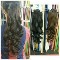 HAIR CLIP / HAIRCLIP / EXTENTION PONYTAIL CURLY IKAT PITA / TALI
