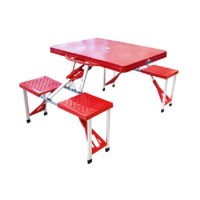 Meja kursi Lipat Portabel, cocok untuk piknik, mini cafe, dll