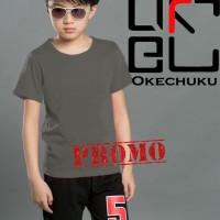 Kaos Oblong Anak Laki-laki / Kids Polos Abu tua Okechuku