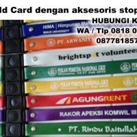 tali id card lebar 1.5cm sablon 1 sisi 1 warna dengan stopper
