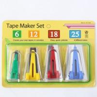 Bias Tape Maker Set / Alat Pembuat Bisban 4 Pcs CY-BTM-S4