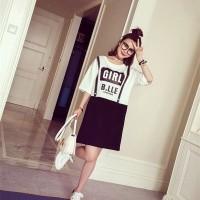 Cute MINI dRESS Tumblr Overall Lookalike Import Murah