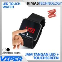 Terlaris !! LED Touch Watch - Jam Tangan Sentuh Pria Wanita Cowo Cewe