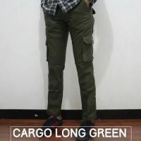 CARGO LONG PANTS- GREEN