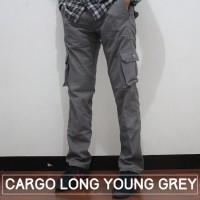CARGO LONG PANTS- Y. GREY