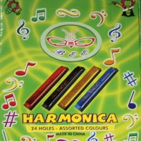 Harmonica 24 Holes Assorted Colours Key of C - Bee