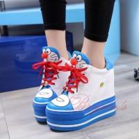 harga Sepatu Sandal Wanita / Flat Wedges Boots Doraemon Tokopedia.com