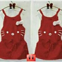 baju anak perempuan jumpsuit hello kitty merah maroon bagus murah