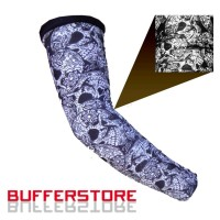 manset tangan skull full print arm sleeve polyster / tatto / tengkorak