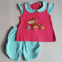 baju setelan celana kaos anak bayi perempuan cewek lucu rusa 210