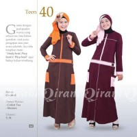 Baju Remaja Muslimah Gamis Murah Bahan Katun ORI QIRANI QT40