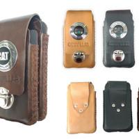 tempat HP kulit asli leather case caterpillar sarung android dompet
