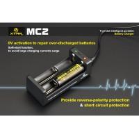 Charger XTAR MC2 for 18650 26650 14500 dll (saingan Nitecore Efest)