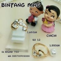 cincin emas variasi putih kadra 75%