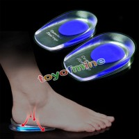 Jual Heel Support Pad Cup Gel Silicone Shock Cushion Orthotic Insole (Man) Murah