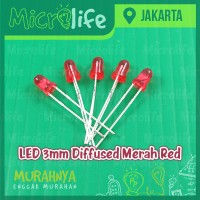 LED 3mm Diffused Merah Red