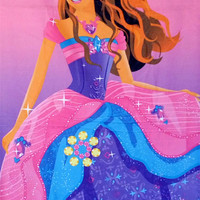 Harga Handuk Karakter Motif Barbie travelbon.com