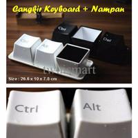 Jual 3 Mug Keyboard + Nampan Unik - Cocok Untuk Koleksi dan Hadiah Murah