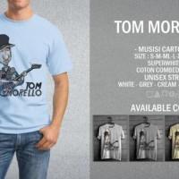 Kaos Tom Morello T-Shirt Raglan Music Rock Band Legend