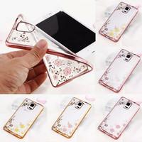 Casing Hp Samsung Galaxy Note 3 Note 4 Flower Diamond Case