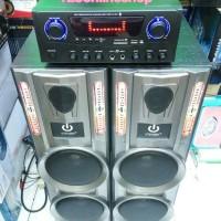MURAH!!! Paket Karaoke Amplifier Bluetooth Usb Sd 26 woofer