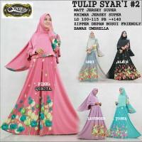 harga Gamis Tulip Syari #2 Ori Qonita Longdress maxi + Khimar jumbo Tokopedia.com
