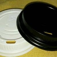 Hot Lid Paper Cup / Tutup Gelas Kertas ukuran 8oz Black/White