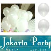 Balon Metalik Putih