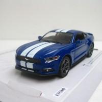Ford Mustang GT 2015 Biru Garis Diecast Miniatur Mobil Mainan Kinsmart
