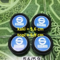 harga dop center / velg sparco biru model racing diameter kaki 5,6 cm (4 bh) Tokopedia.com