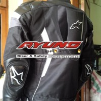 Jual Jaket Motor Touring Alpinestar GP Safety ( Windproof 85% ) Hitam Baru Murah